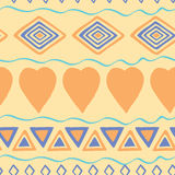 Tribal hand drawn background, ethic doodle pattern. Geometric borders. Hand drawn abstract backdrop. Wallpaper for pattern fills, Stock Photo
