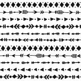 Tribal hand drawn background Stock Photography