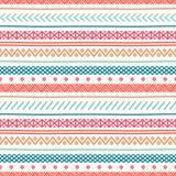 Tribal hand drawn line geometric mexican ethnic seamless pattern. royalty free illustration