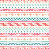 Tribal hand drawn line geometric mexican ethnic seamless pattern. Border. Stock Photos