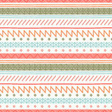 Tribal hand drawn line geometric mexican ethnic seamless pattern. Border. Wrapping paper. Scrapbook. Doodles. Vintage vector illustration