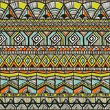Tribal hand-drawn pattern Stock Photography
