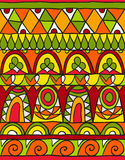 Tribal hand drawn - seamless vector ethnic pattern Royalty Free Stock Images