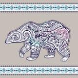 Tribal hand drawn totem bear Stock Photos