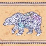 Tribal hand drawn totem bear Stock Image