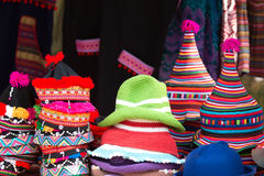 The tribal hats of northern tribal in Thailand. Stock Images