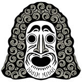 Tribal head Stock Photo