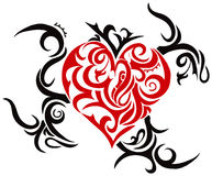 Tribal heart. Theme Royalty Free Stock Photography