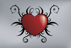 Tribal heart Stock Images