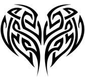 Tribal Heart. Stylized tattoo tribal heart shape Stock Photography