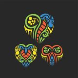 Tribal Heart Abstract royalty free stock image