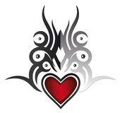 Tribal, heart Stock Photos