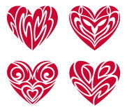 Tribal Hearts – Tattoo Set Royalty Free Stock Photos