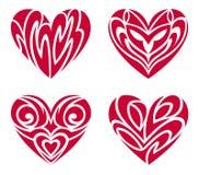 Tribal Hearts – Tattoo Set Royalty Free Stock Photos