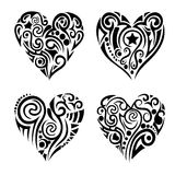 Tribal hearts Royalty Free Stock Photography