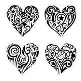 Tribal hearts royalty free illustration