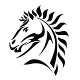 Tribal horse head tattoo Stock Image