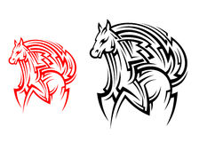 Tribal horse tattoo Royalty Free Stock Photos