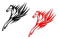 Tribal horses Stock Photography