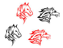 Tribal horses Royalty Free Stock Images