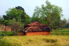 Tribal House in India Royalty Free Stock Photos