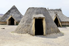 Tribal houses in africa Stock Images