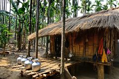 Tribal Hut Royalty Free Stock Image