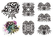 Tribal imaginary animal symbols Royalty Free Stock Photo