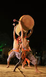 Tribal indian dance show stock image