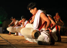 Tribal indian dance show Stock Images