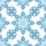 Tribal indian ethnic seamless design. Festive colorful mandala pattern. Tribal indian ethnic seamless design. Festive blue mandala pattern Stock Photos