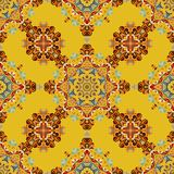 Tribal indian ethnic seamless design. Festive colorful hot eastern colors mandala pattern.  Stock Photo