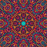 Festive flower colorful mandala pattern. Tribal indian ethnic seamless design. Festive colorful mandala pattern Stock Images