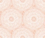 Tribal Indian style abstract circle geometry. Seamless pattern.  Elegant pale rose concept flower of sun vector illustration for surface design, fabric Royalty Free Stock Photography