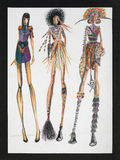 Tribal inspired fashion design Stock Photo