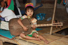 Tribal Karen child in Thailand Royalty Free Stock Photo