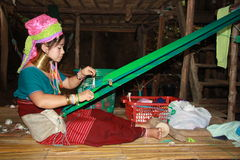Tribal Karen woman in Thailand Stock Image