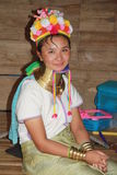 Tribal Karen woman in Thailand Royalty Free Stock Photos