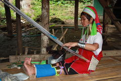 Tribal Karenni woman in Thailand Stock Image