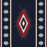 Tribal kilim, abstract geometric ornament, ethnic seamless pattern. Aztec, boho, native fabric. stock illustration