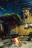 Tribal kitchen  at northern of Thailand. Stock Photo
