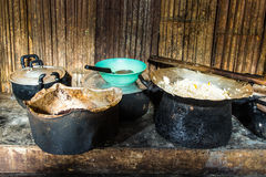 Tribal  Kitchen in Northern Thailand Royalty Free Stock Photos