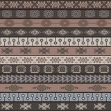 Tribal knitted seamless pattern, indian or african ethnic patchwork style Stock Photo