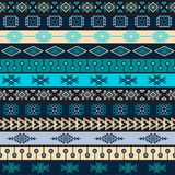 Tribal knitted seamless pattern, indian or african ethnic patchwork style Stock Photography