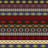 Tribal knitted seamless pattern, indian or african ethnic patchwork style Royalty Free Stock Photos