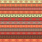 Tribal knitted seamless pattern, indian or african ethnic patchwork style Stock Photos