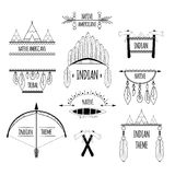 Tribal labels set Royalty Free Stock Photography