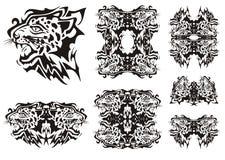 Tribal leopard symbols Royalty Free Stock Photo