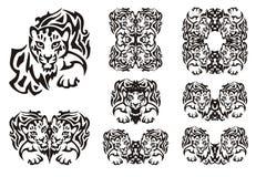 Tribal leopard symbols Stock Photography