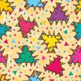 Tribal like triangle seamless pattern Royalty Free Stock Image